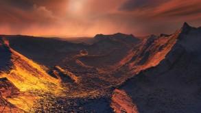 كوكب متجمد يدور في فلك نجم قريب من المجموعة الشمسية