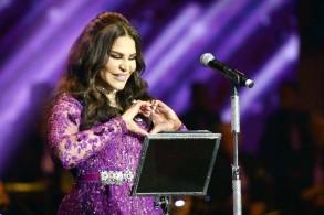 أحلام ترقص الخطوة على مسرح طلال بمشاركة 100 عازف وراقص