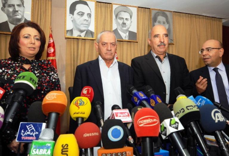 رؤساء المنظمات الأربع التي ترعى الحوار الوطني في تونس