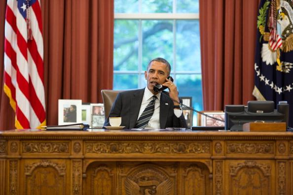 اوباما خلال المحادثة الهاتفية مع روحاني
