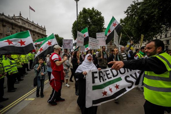 تظاهرة في لندن تطالب بالقضاء على ترسانة الأسد الكيميائية