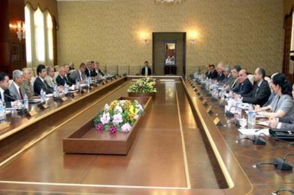 حكومة إقليم كردستان خلال اجتماعها