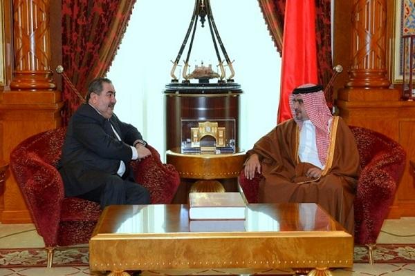 زيباري مجتمعا مع ولي العهد البحريني الامير سلمان بن حمد آل خليفة