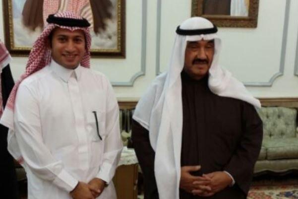 الشيخ ناصر المحمد مع الزميل سلطان القحطاني