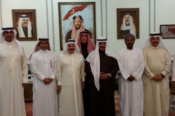 لقاء مع الشيخ ناصر المحمد حضرته إيلاف