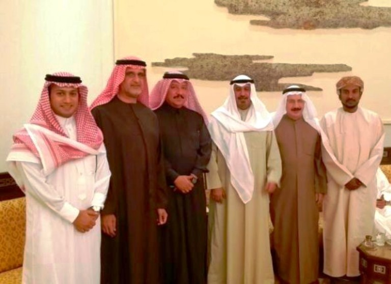 الزميل سلطان القحطاني في ضيافة الشيخ محمد الصباح