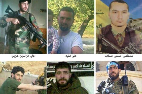 صور نشرها موقع كلنا شركاء لعناصر من حزب الله قتلوا في سوريا