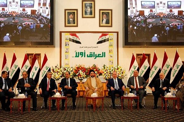 القادة العراقيون خلال اجتماعهم بدعوة من الحكيم