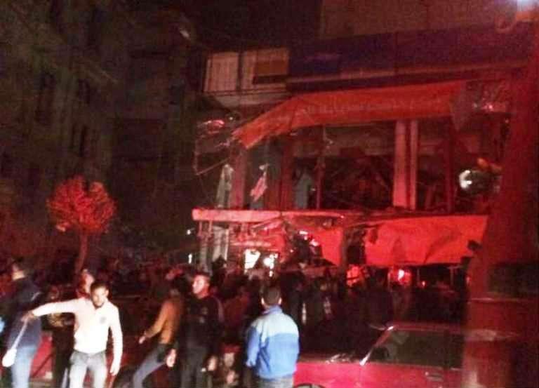 الصور الأولى لمخلفات الاعتداء ضد الشرطة المصرية شمال القاهرة