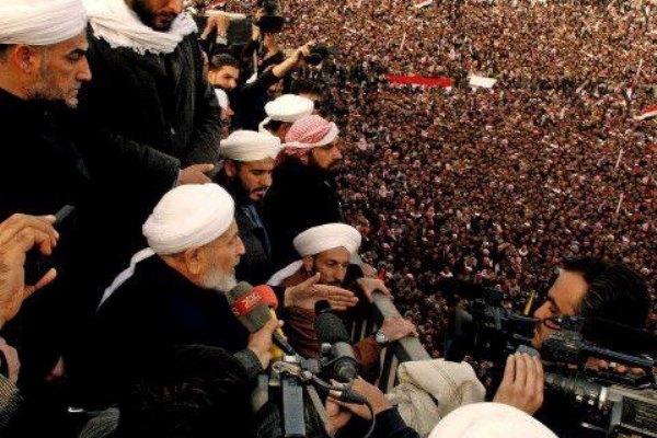 عبد المالك السعدي مخاطبا المعتصمين في الأنبار