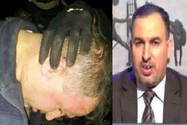 صورة مركبة للنائب العراقي أحمد العلواني قبل وبعد الاعتقال
