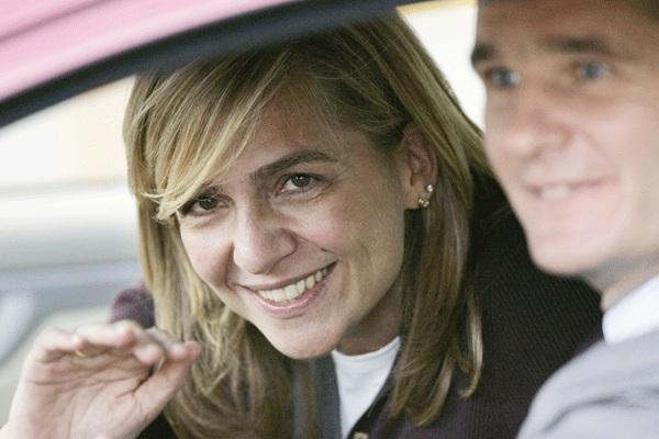 الاميرة كريستينا وزوجها إناكي اوردانغارين المتهم بالاختلاس