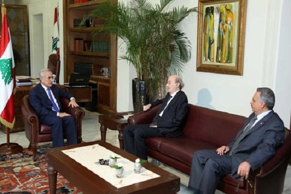 الرئيس ميشال سليمان ووليد جنبلاط في لقاء سابق