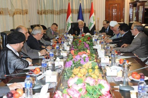قادة التحالف الوطني العراق خلال اجتماعهم