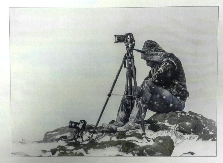 صورة لمصور أتى وراء لقطة جميلة في تبوك