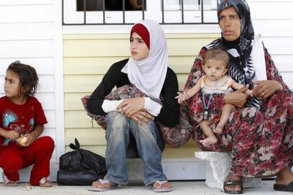 عائلة سورية لاجئة في العراق