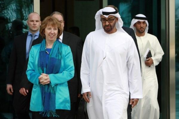 ولي عهد أبو ظبي محمد بن زايد وكاثرين آشتون