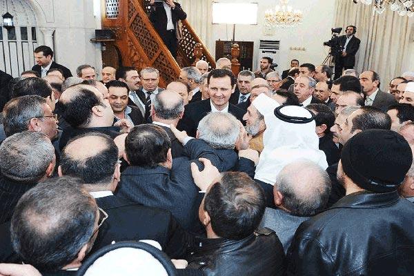 الأسد يحيي ذكرى المولد النبوي الشريف