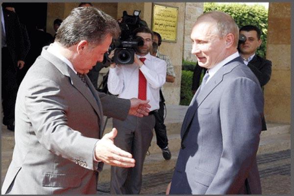 لقاء سابق لعبدالله الثاني مع بوتين في عمّان