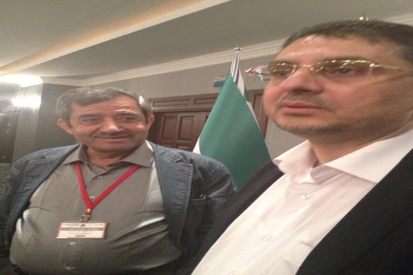 لامين العام للائتلاف الوطني بدر جاموس وعضو الائتلاف زياد ابو حمدان