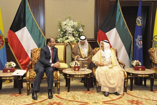 الجبوري مجتمعا مع أمير الكويت