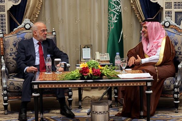 الجعفري مجتمعا مع الامير سعود الفيصل