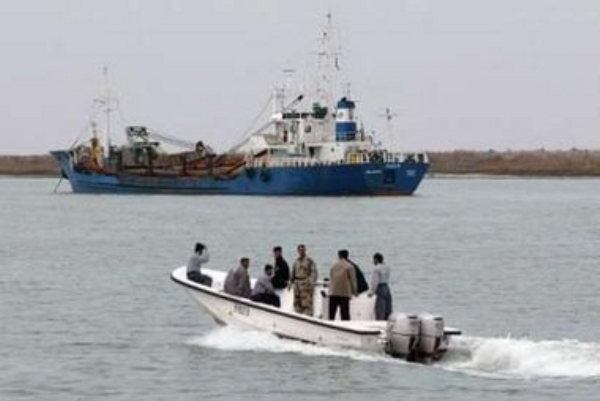 جنود من البحرية العراقية في شط العرب