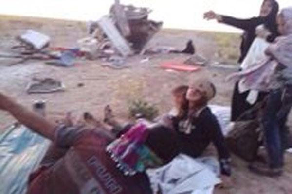 نساء وأطفال مصابون بقصف الجيش العراقي للفلوجة