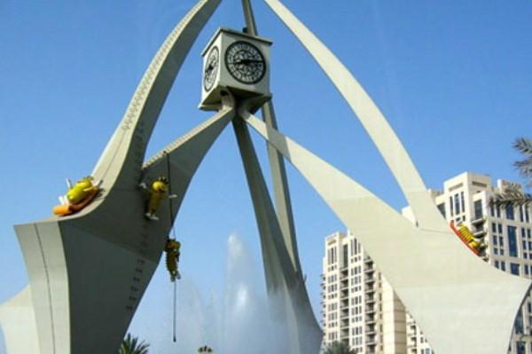 برج دوار الساعة في دبي