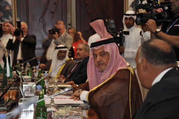 الأمير سعود الفيصل في اجتماع جدة لمكافحة الإرهاب