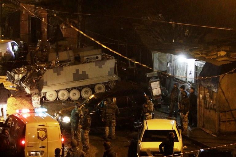 الجيش اللبناني والاسعاف ينتشران في موقع التفجير