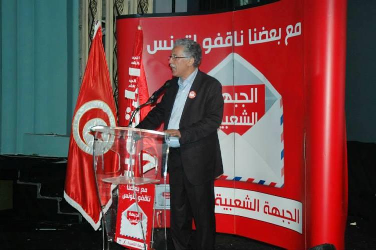 حمة الهمامي الناطق الرسمي باسم الجبهة الشعبية في تونس
