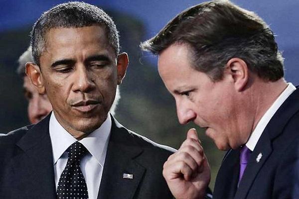 الرئيس الأميركي ورئيس الوزراء البريطاني
