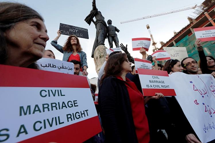 تظاهرة سابقة لنساء لبنانيات في بيروت من أجل الحقوق المدنية