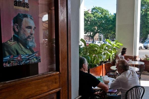 صورة للقائد الكوبي فيدل كاسترو