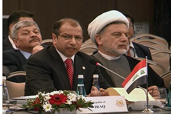 صورة اخرى للجبوري في مؤتمر برلمانات منظمة التعاون الاسلامي