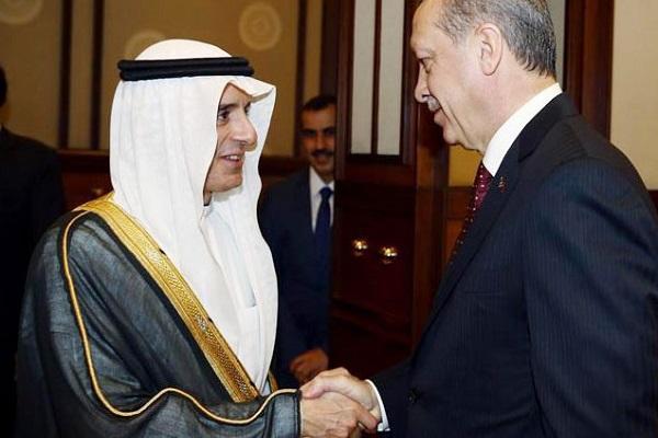 اردوغان مستقبلاً الجبير (الأناضول)