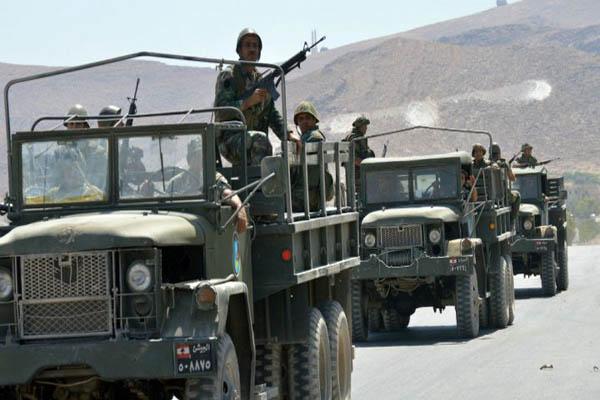الجيش اللبناني منتشرًا في منطقة البقاع
