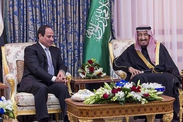 الملك سلمان والرئيس المصري في لقاء سابق