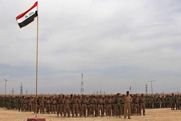 دفعة من المتطوعين السنة من الأنبار للقتال ضد داعش - AFP