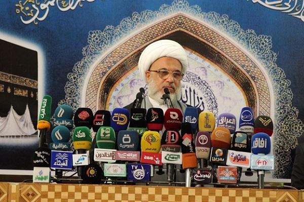 الشيخ الكربلائي يلقي خطبة الجمعة من كربلاء