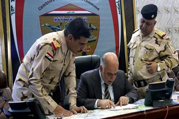العبادي يطلع على سير العمليات العسكرية لتحرير الانبار