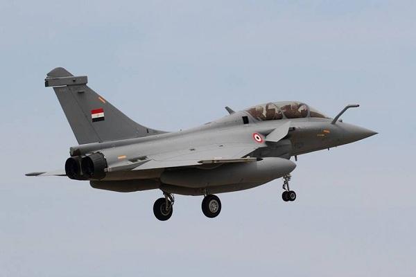 طائرة رافال بعد تسليمها لمصر
