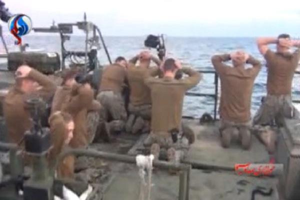 إيران تبث شريطاً استفزازياً للبحارة الأميركيين