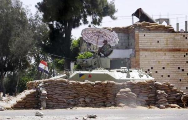 حاجز تفتيش للجيش المصري شمال سيناء - أرشيفية