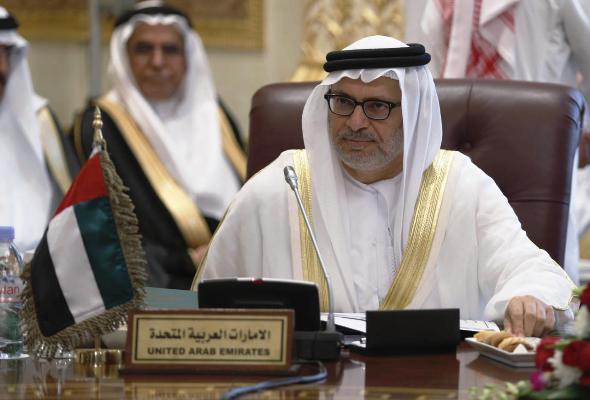 وزير الدولة للشؤون الخارجية الاماراتي انور قرقاش