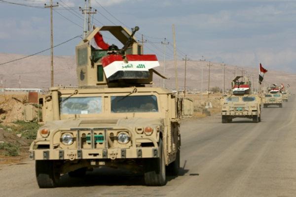 قوات عراقية تتقدم الى الموصل