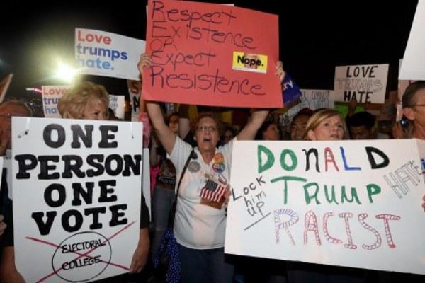 تظاهرات احتجاجًا على فوز ترامب