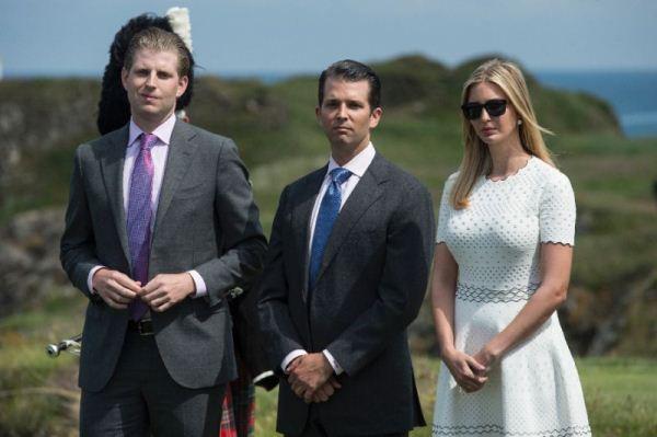 أبناء ترامب من اليمين: ايفانكا ودونالد الابن وإريك ترامب