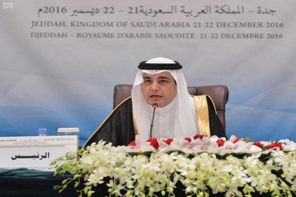 الدكتور عادل الطريفي خلال ترؤسه المؤتمر الإسلامي لوزراء الإعلام بدول التعاون